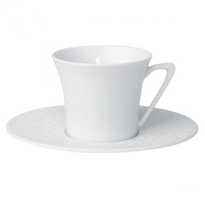 6 TASSES THE & SOUCOUPE BOREAL SATIN BLANC