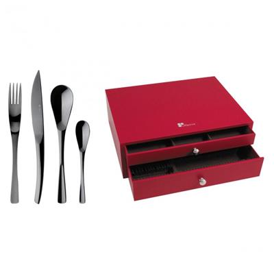 MENAGERE 75 PIECES XY BLACK MIROIR