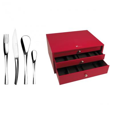 MENAGERE 123 PIECES EN ECRIN XY METAL ARGENTE