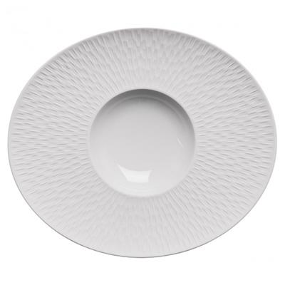3 ASSIETTES GOURMET OVALES BOREAL SATIN BLANC